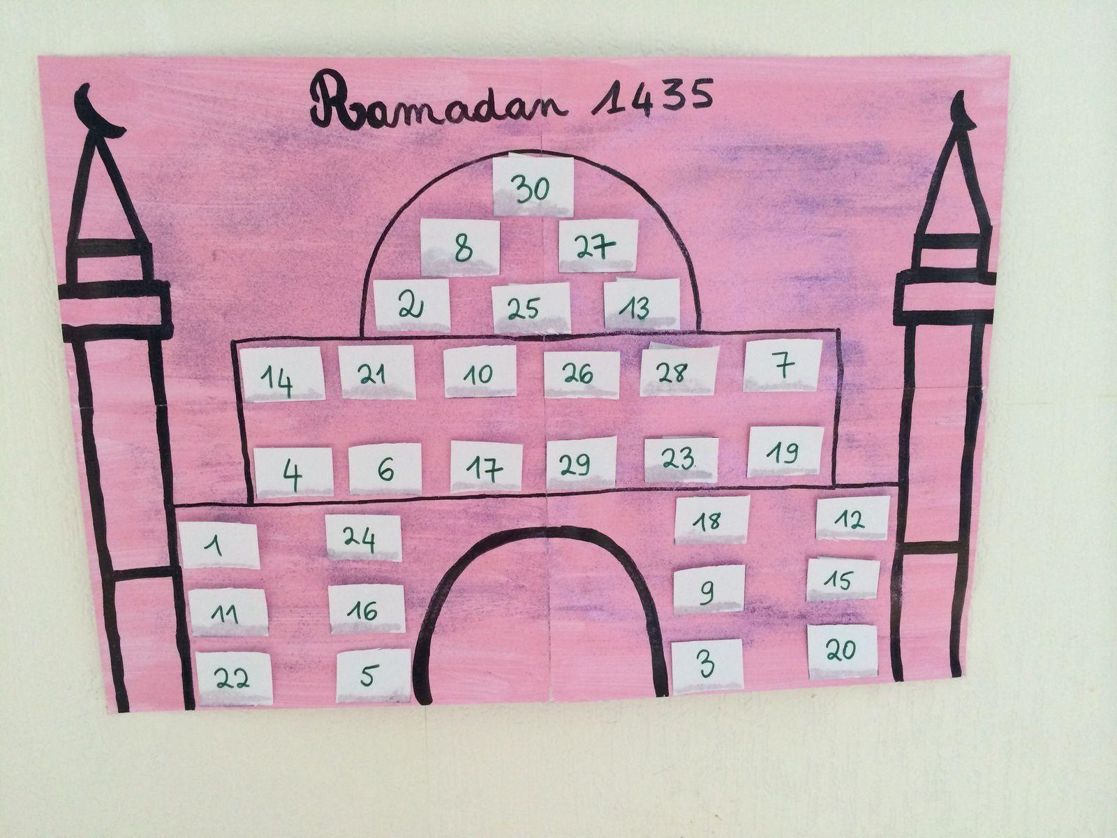 Calendrier Ramadâne 1435 (version loukoum)