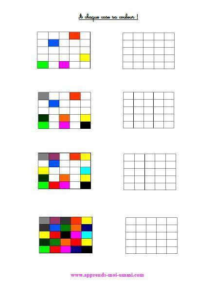 A chaque case sa couleur !