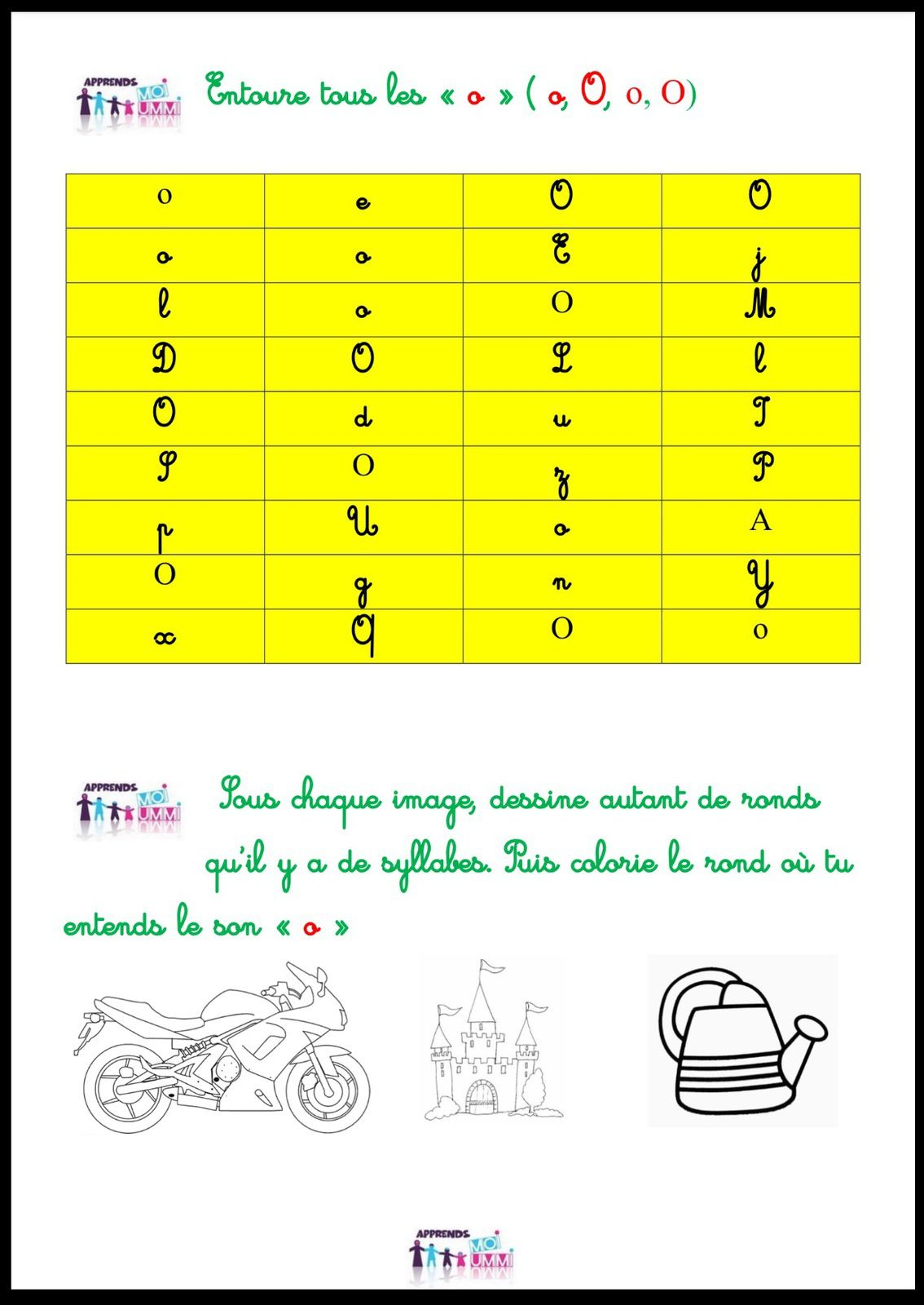 Le son &quot&#x3B;o&quot&#x3B; : exercices