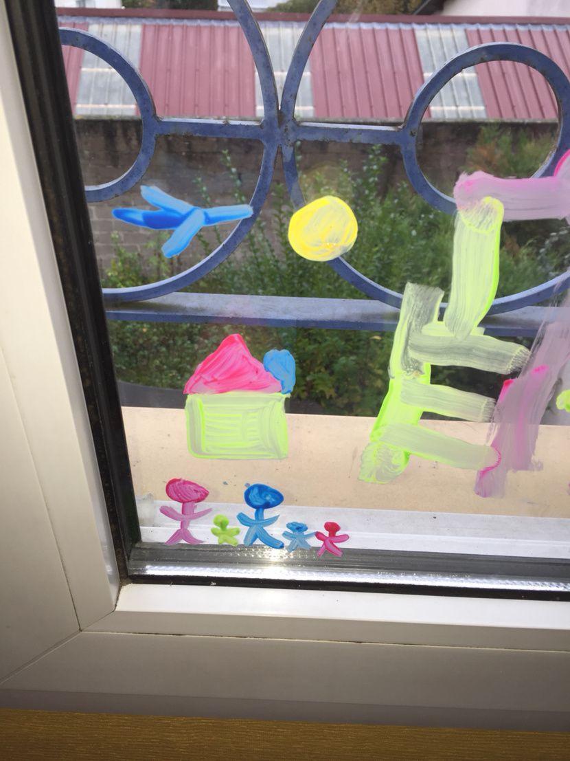 Peinture sur vitres
