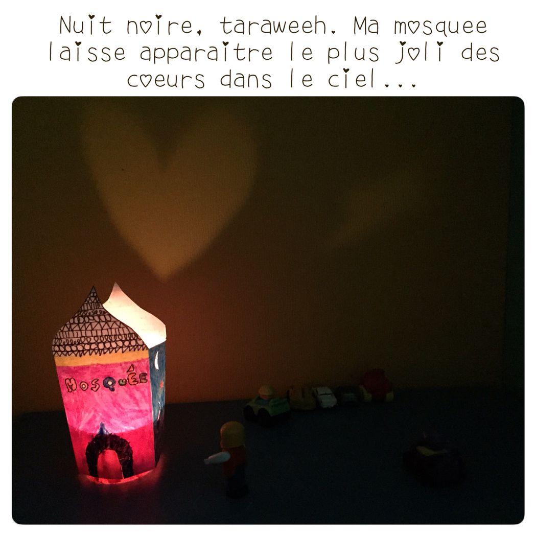 Une mosquée illuminée