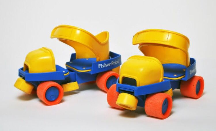 Les rollers Fisher price à 4 roues!