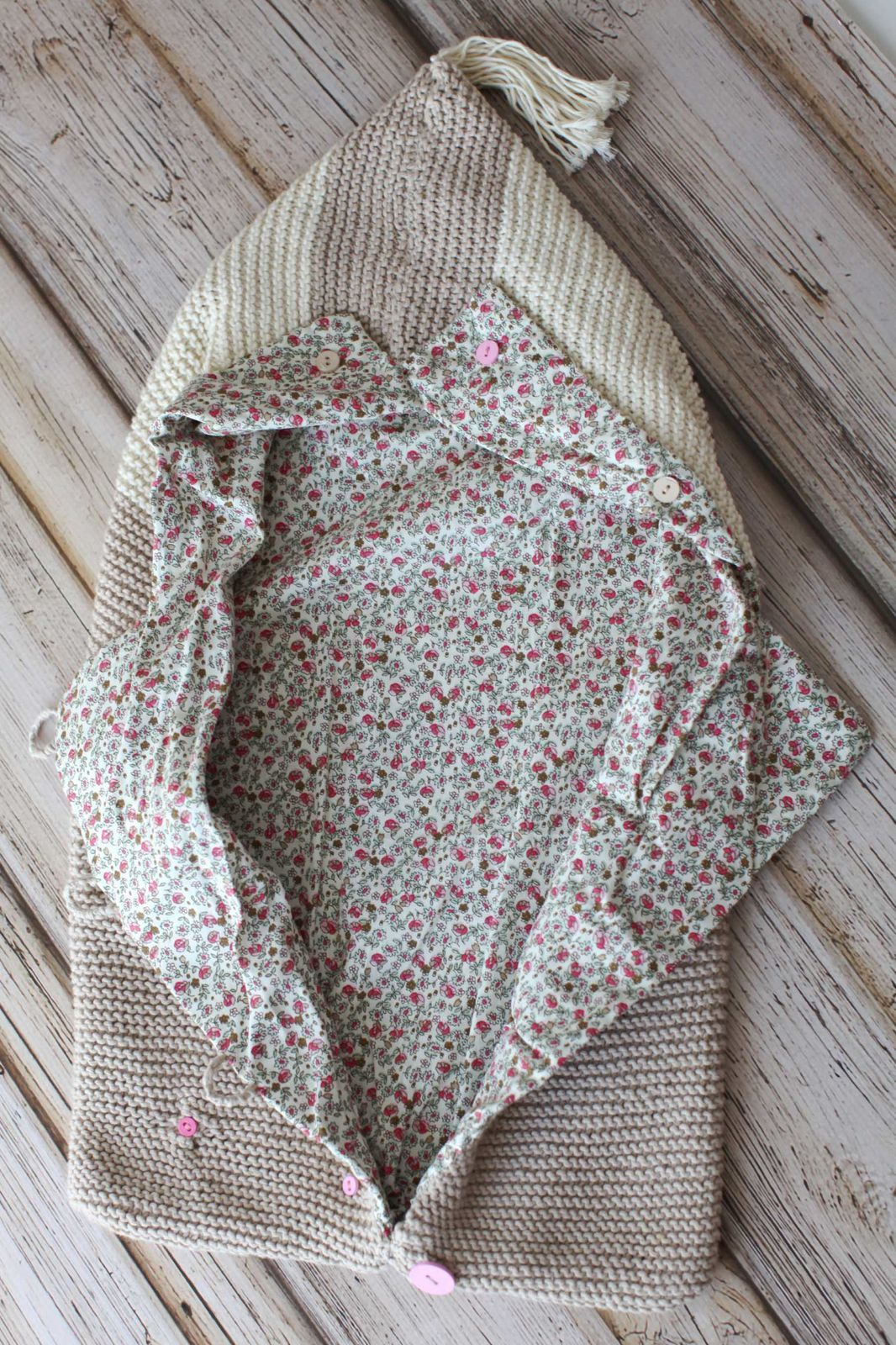 Winter baby cocoon made of organic cotton