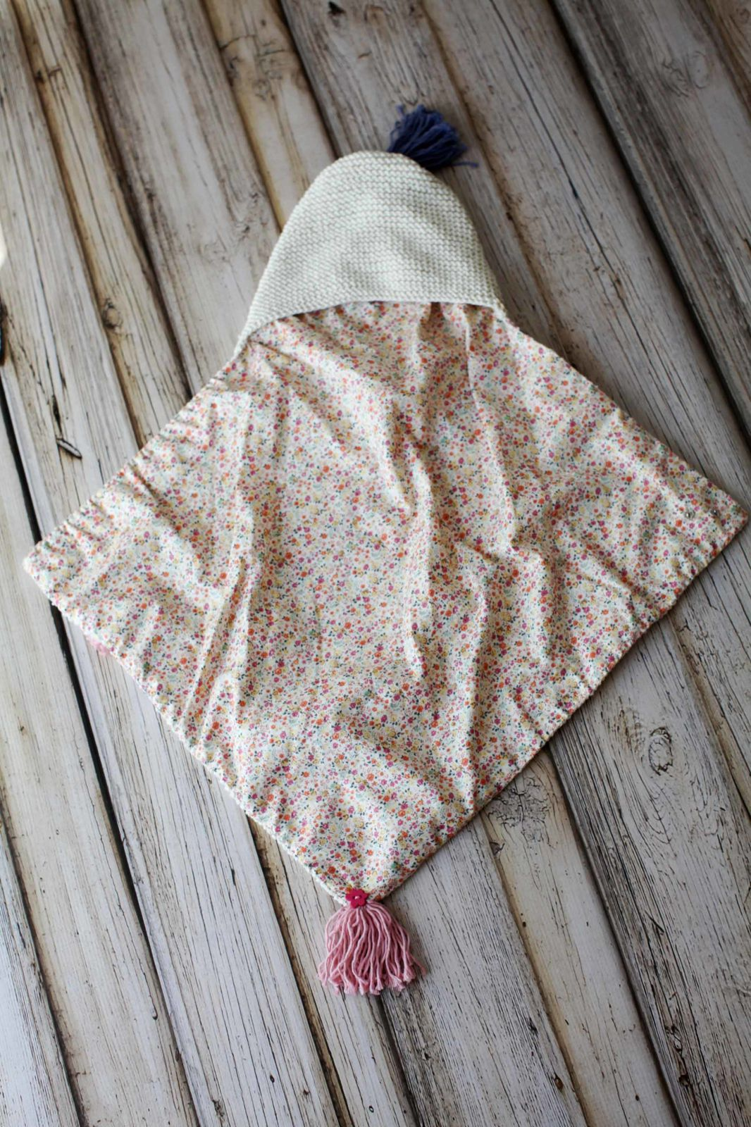 White baby cocoon made of organic cotton