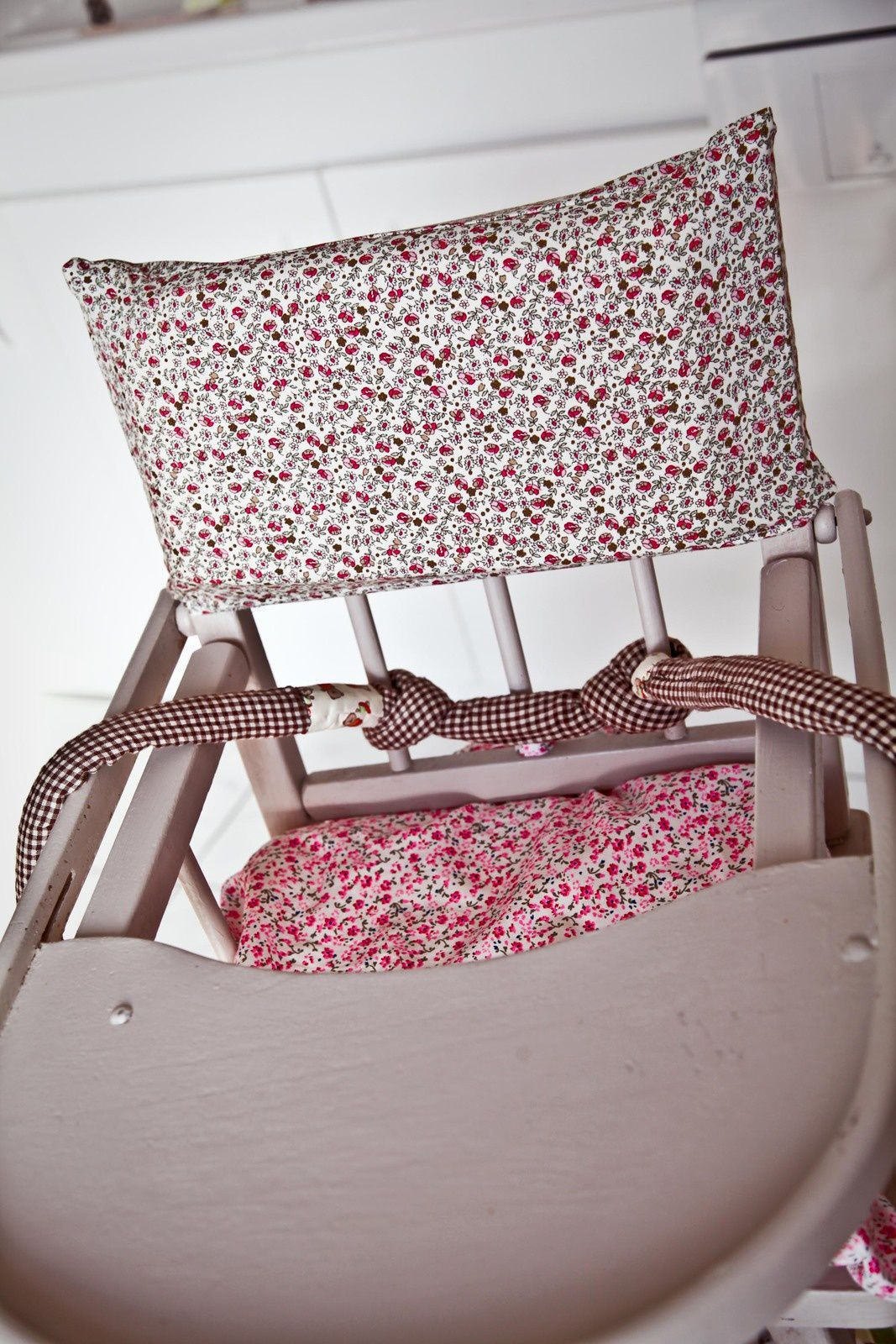 Vintage chair covered with liberty