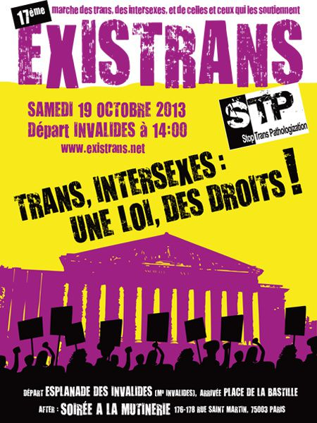 Trans, Intersexes : une loi, des droits !