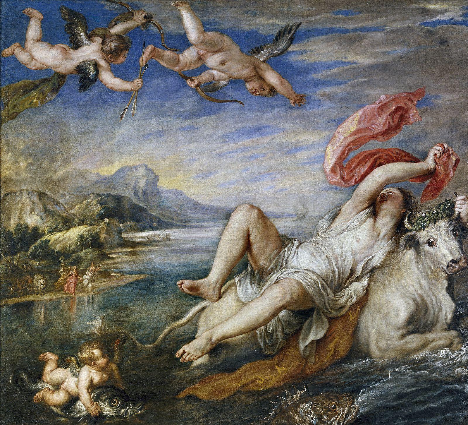 """Copie de """"l'enlèvement d'Europe"""" réalisée par Rubens"""