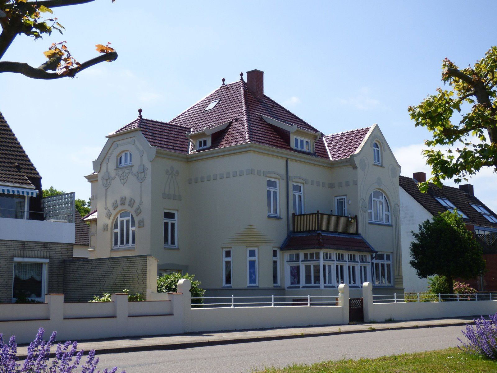 La jolie station balnéaire de Laboe, à l'embouchure du fjord de Kiel