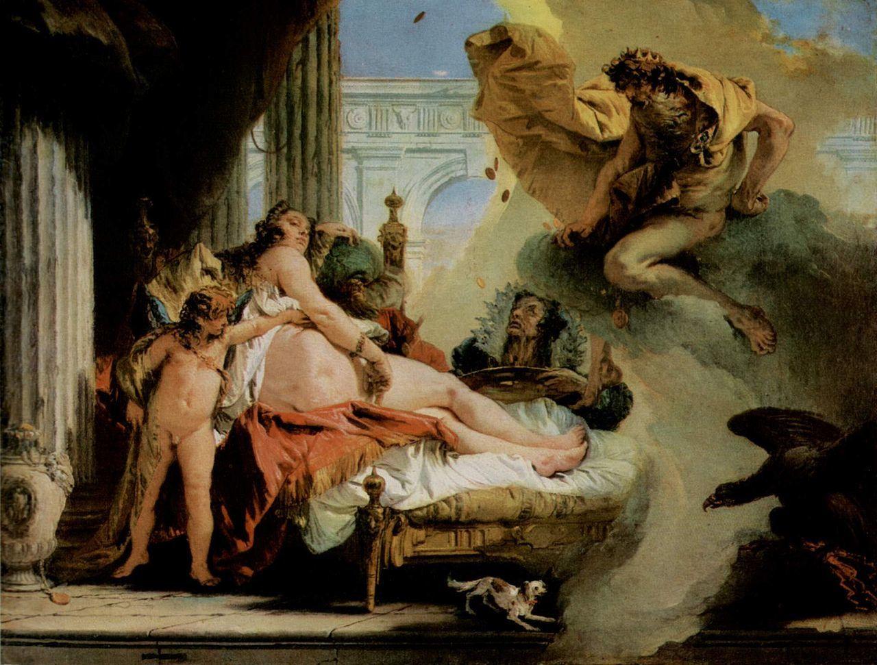 Danaé et Jupiter - Tiepolo - 1736 - Musée de Stockholm