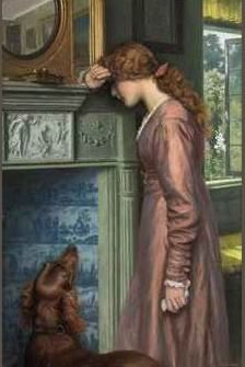 """A passing cloud"" by Arthur Hughes"