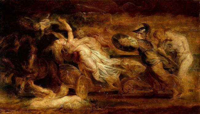 Le rapt de Proserpine par - Rubens