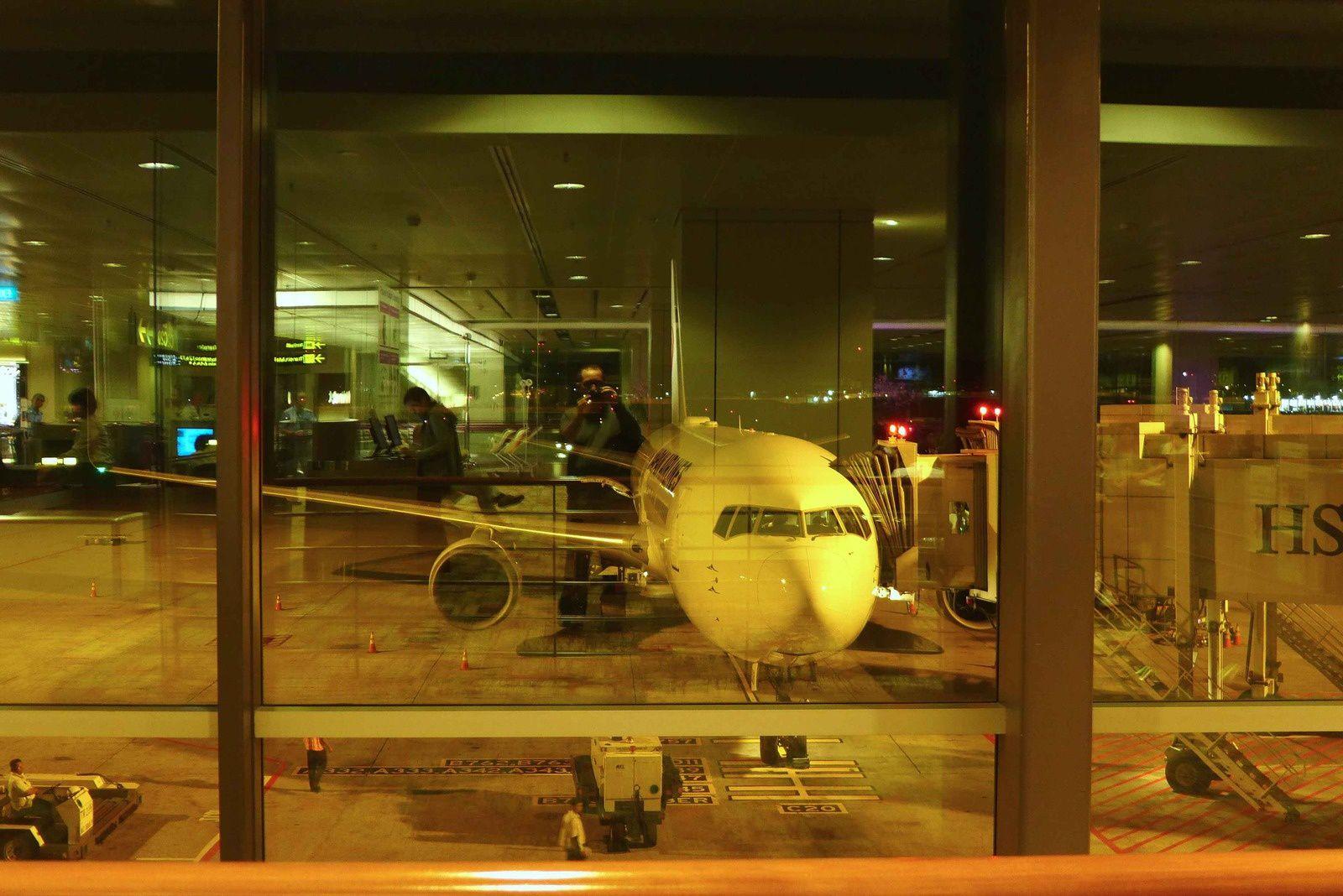 Notre avion et jd en reflet