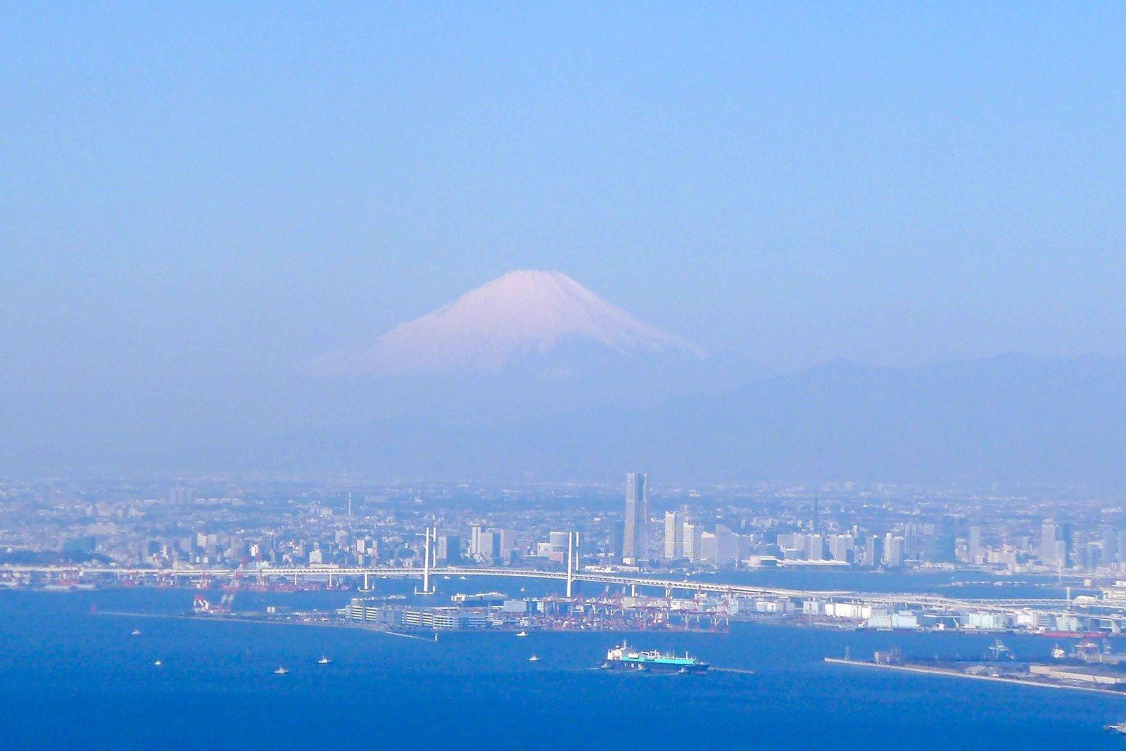 Mont Fuji et Tokyo de nuit