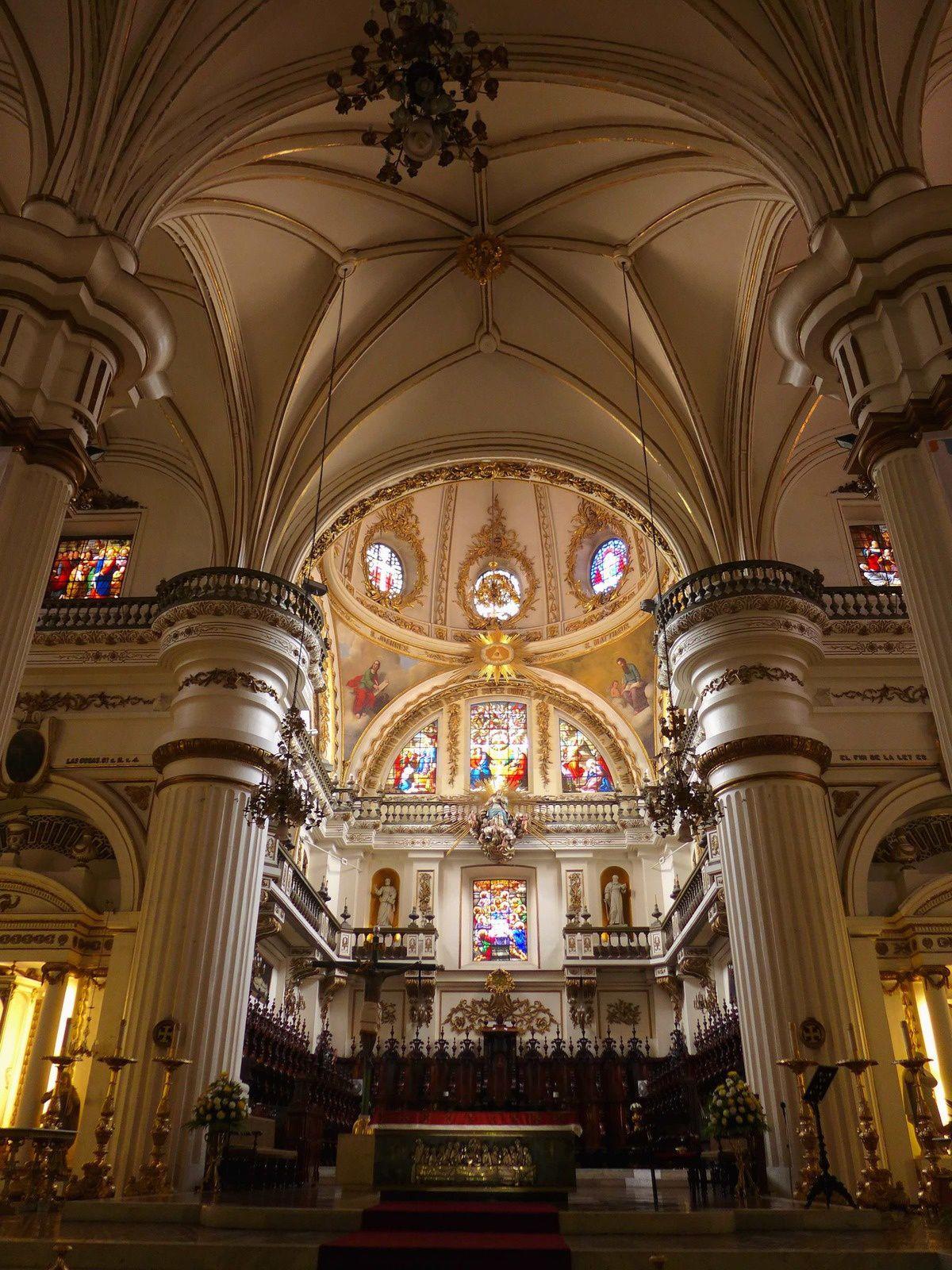 Cette cathédrale aux tours jumelles constitue le symbole et le grand repère de la ville. Commencée en 1558 et consacrée en 1618, elle est presque aussi ancienne que la ville. Ses tours, reconstruites en 1848 après un tremblement de terre, sont beaucoup plus hautes que celles d'origine. L'intérieur renferme de massifs piliers de style toscan dorés à la feuille et onze autels richement ornés offerts à Guadalajara par le roi Ferdinand VII d'Espagne