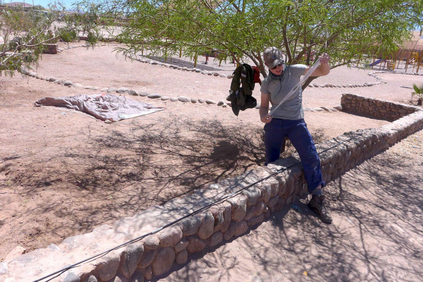 Réparation de la tente