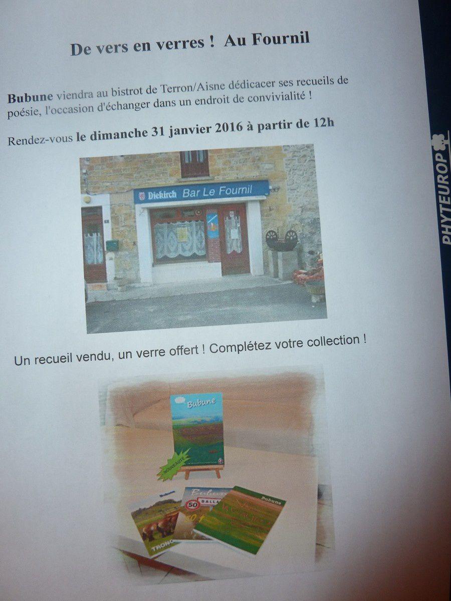 Ce week-end au programme ! Au Fournil à Terron/Aisne c'est dimanche dès 12h !