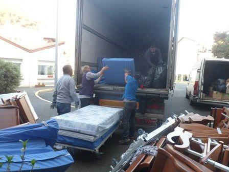 AIMA envoie un camion à la Croix Bleue de Lettonie
