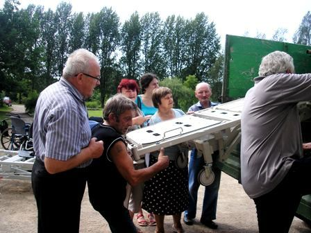 Des photos du 43ème camion arrivé en Lettonie