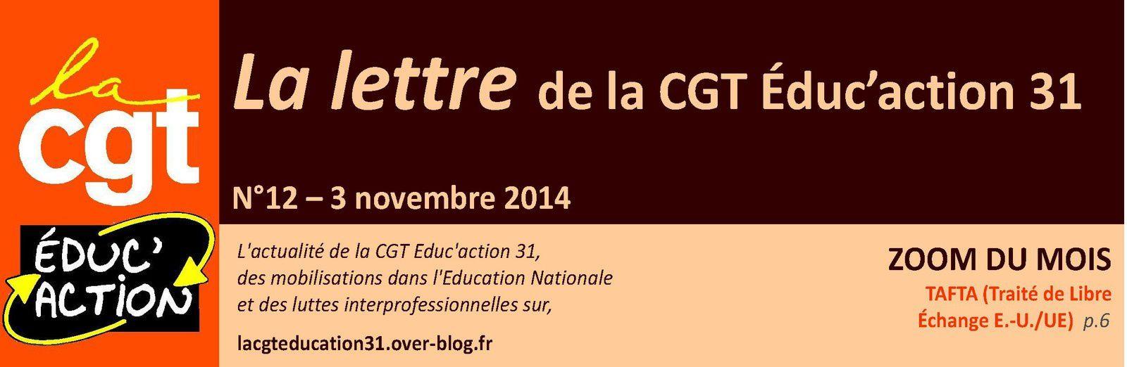 Lettre de la CGT Educ'action n°12, parue !