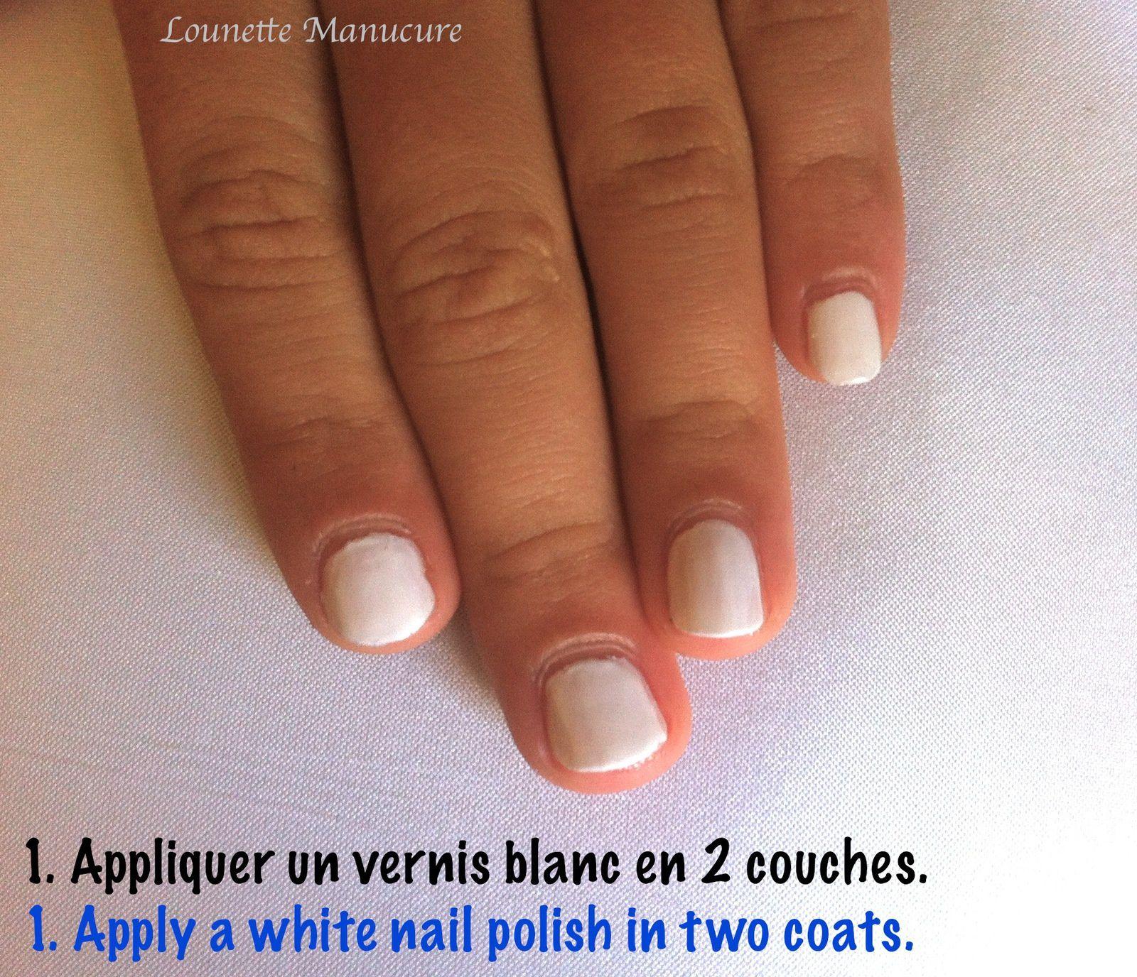 Nail Art - Splatch ! version blanc