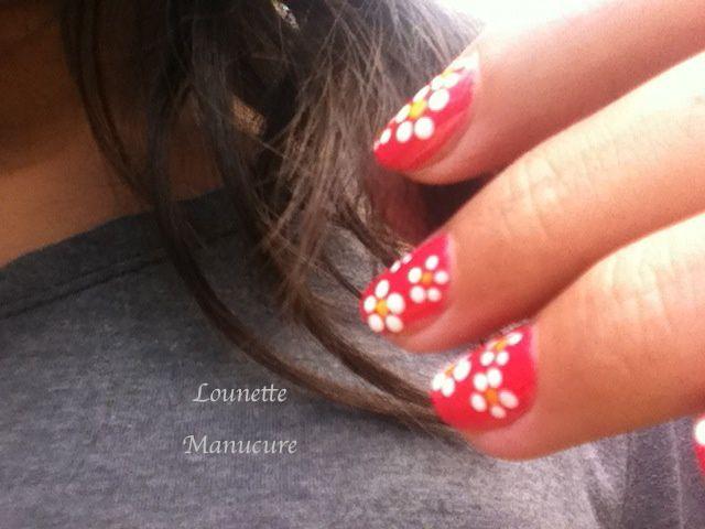 Nail Art - Petites fleurs de printemps