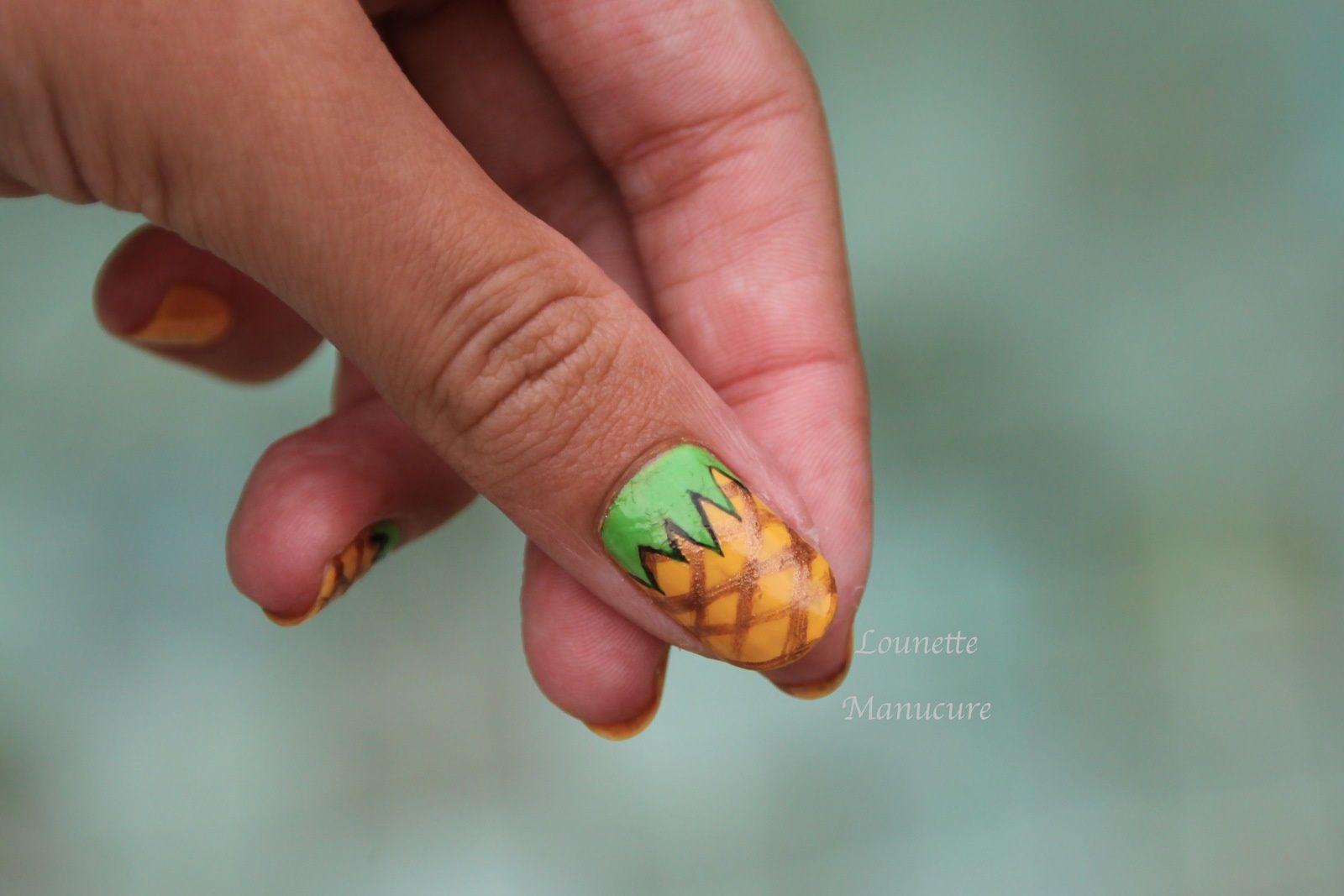 Nail Art - Ananas