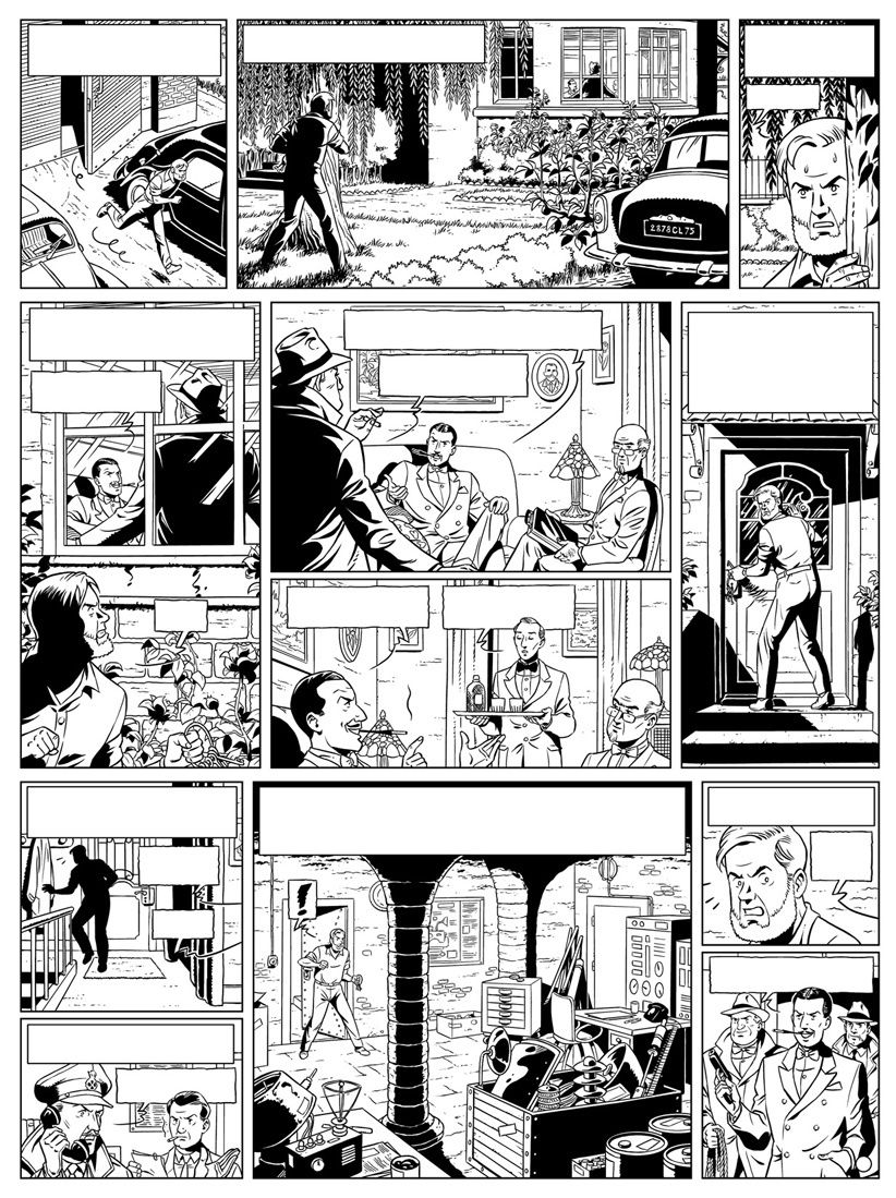 Inking of Alvès's test page (2011).