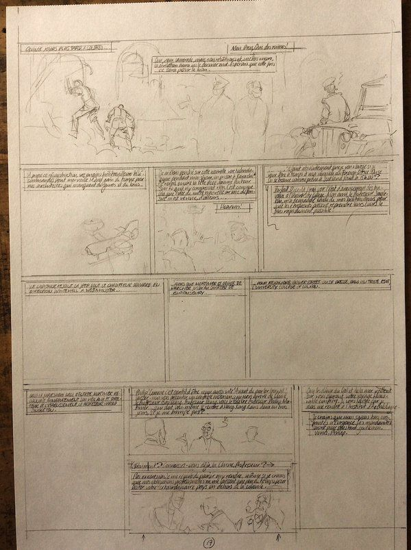 The storyboard for page 17 of a new, yet-to-be-revealed album