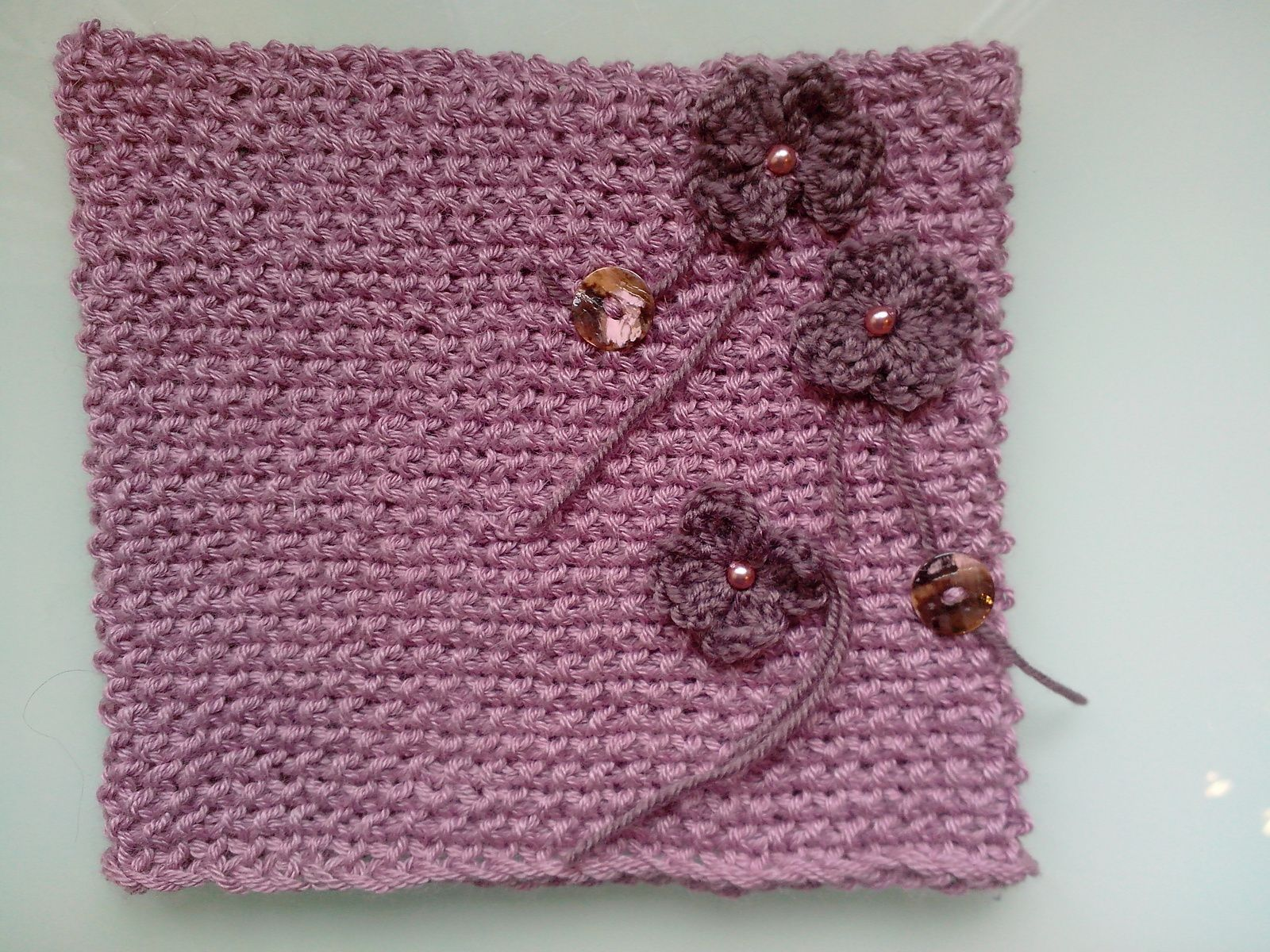 Snood fleuri