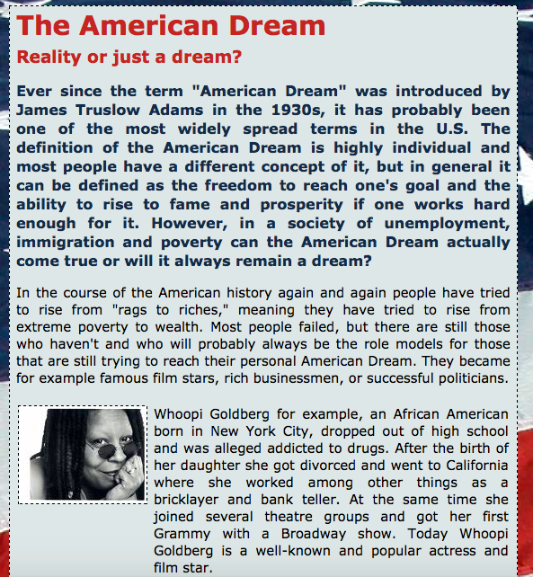 is the american dream still alive the american dream and the individual dream No idea is more central to americans' outlook than the american dream price tag for the american dream: the american dream is still alive.