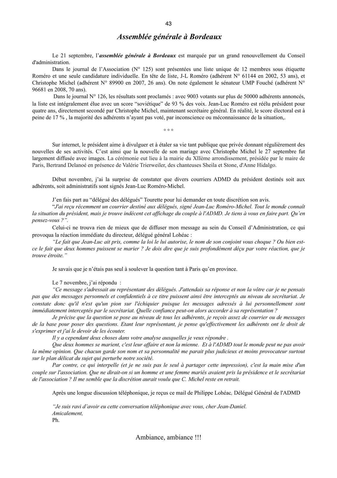 Jean-Daniel NESSMANN son temoignage ADMD 2011 - 2012 - 2013