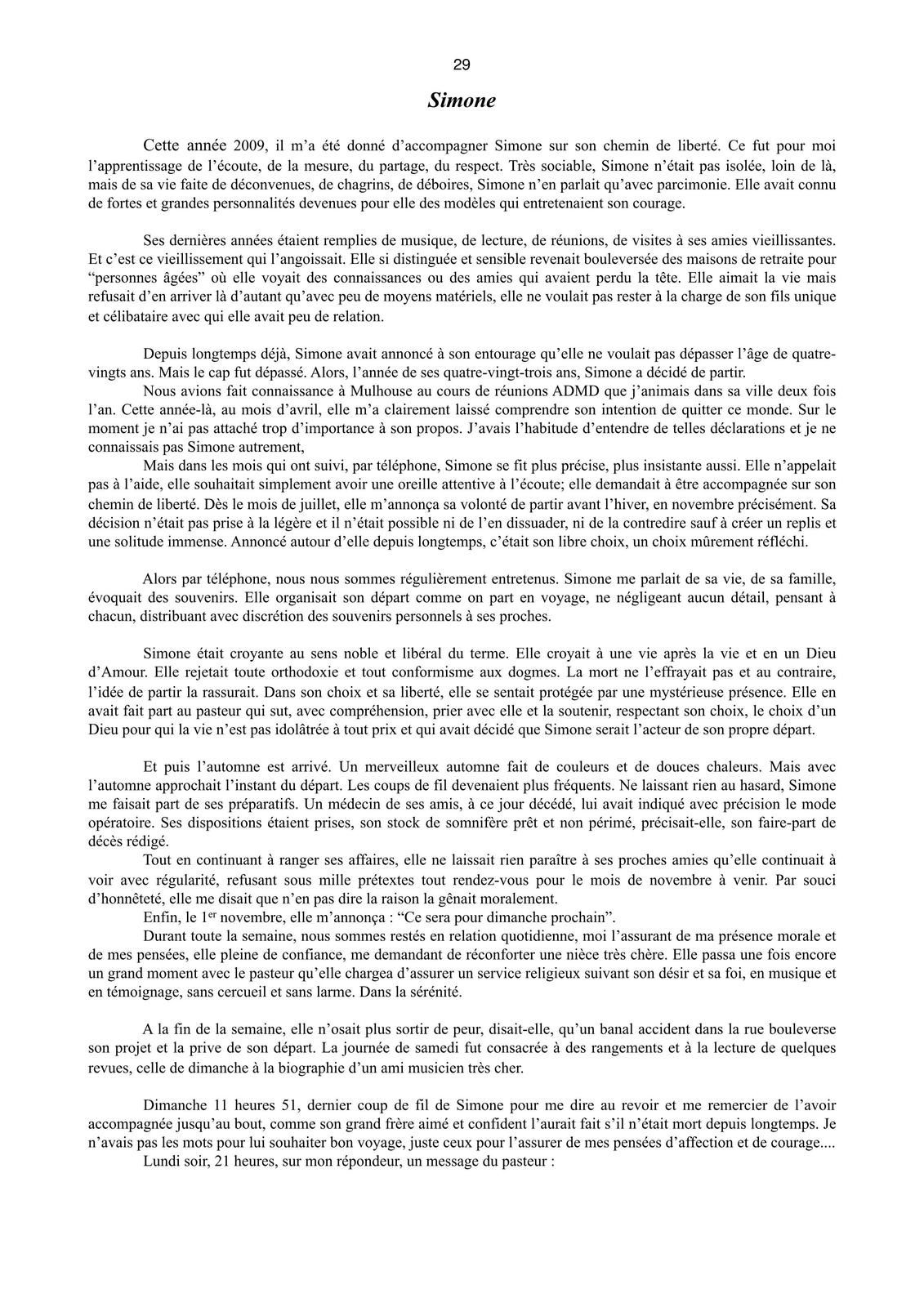 Jean-Daniel NESSMANN son temoignage ADMD années 2009 - 2010