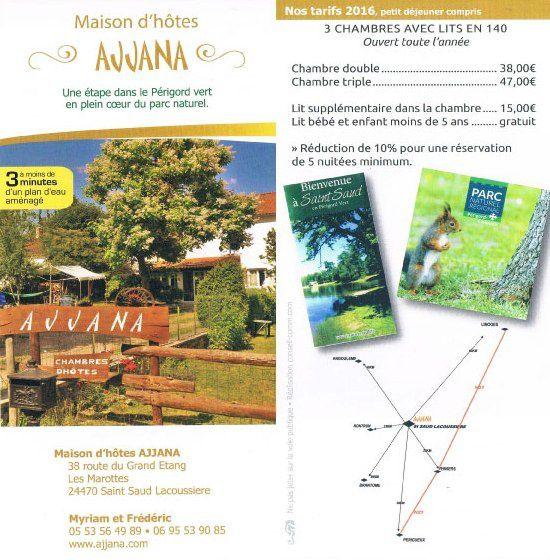 Maison d'hôtes AAJANA Une étape dans le Périgord vert en plein cœur du parc naturel