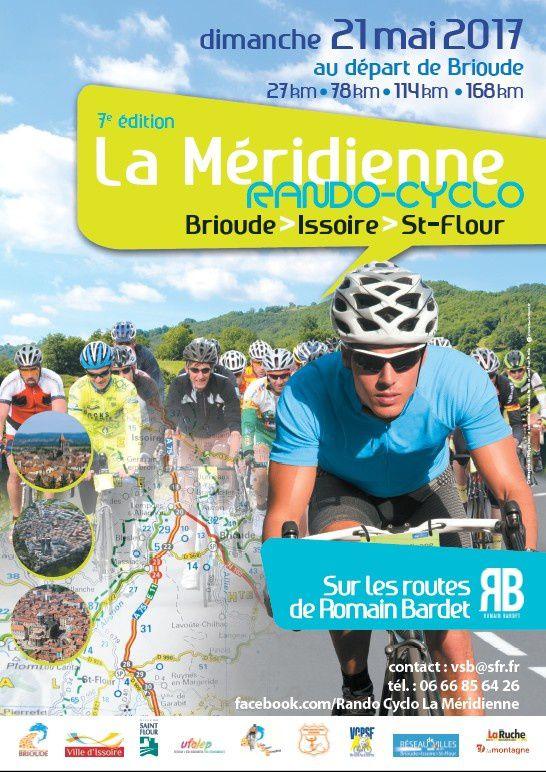 DIMANCHE 21 MAI 2017 : 7ème édition de LA MERIDIENNE Rando-Cyclo Brioude Issoire Saint-Flour