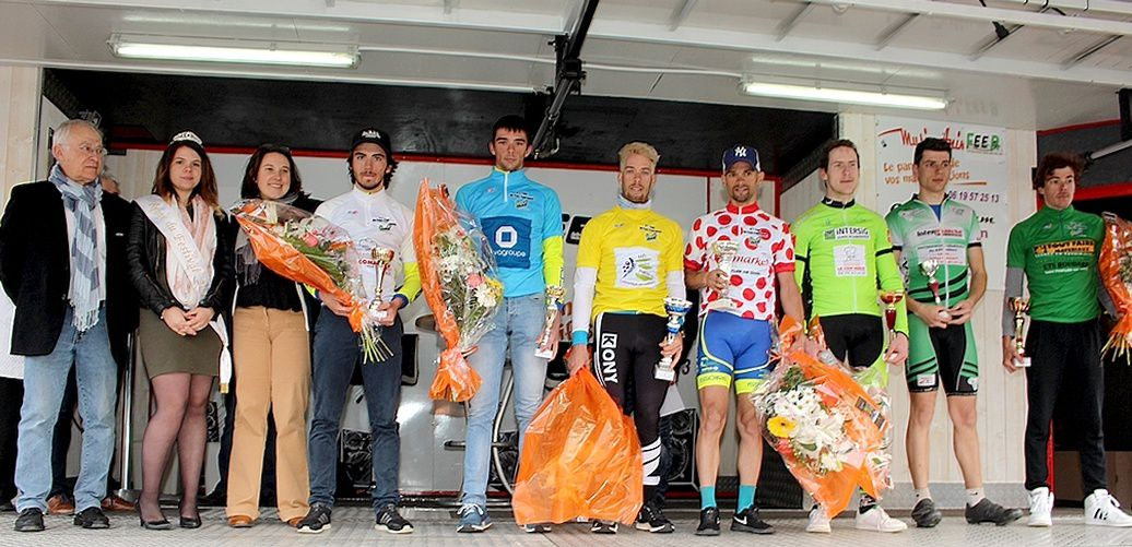 Romain LORCERIE 1° Junior - Alex VALLAT 1° de la 3° catégorie - Boris ORLHAC 1° des MG - Romain LORCERIE 1° Junior-