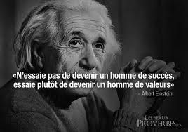 Proverbe Einstein- devenir homme
