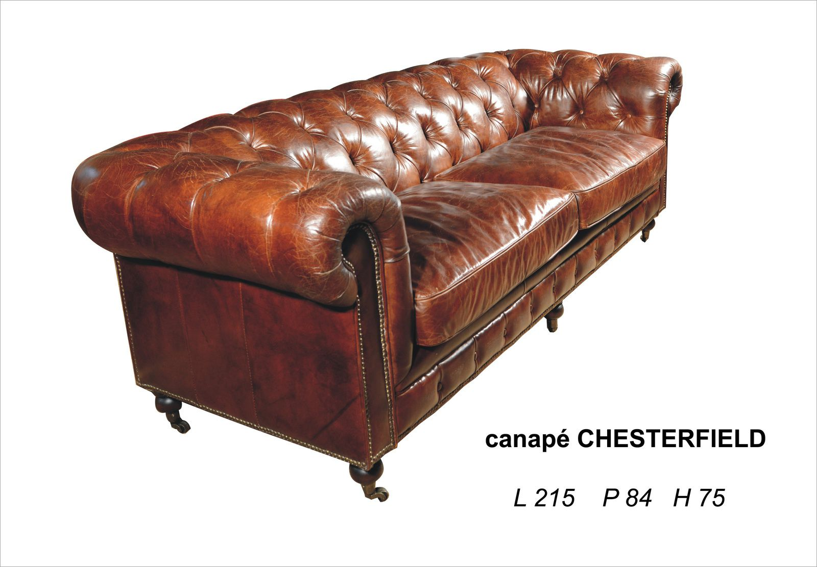 Nouveau canap chesterfield 3 places convertibles for Chesterfield canape