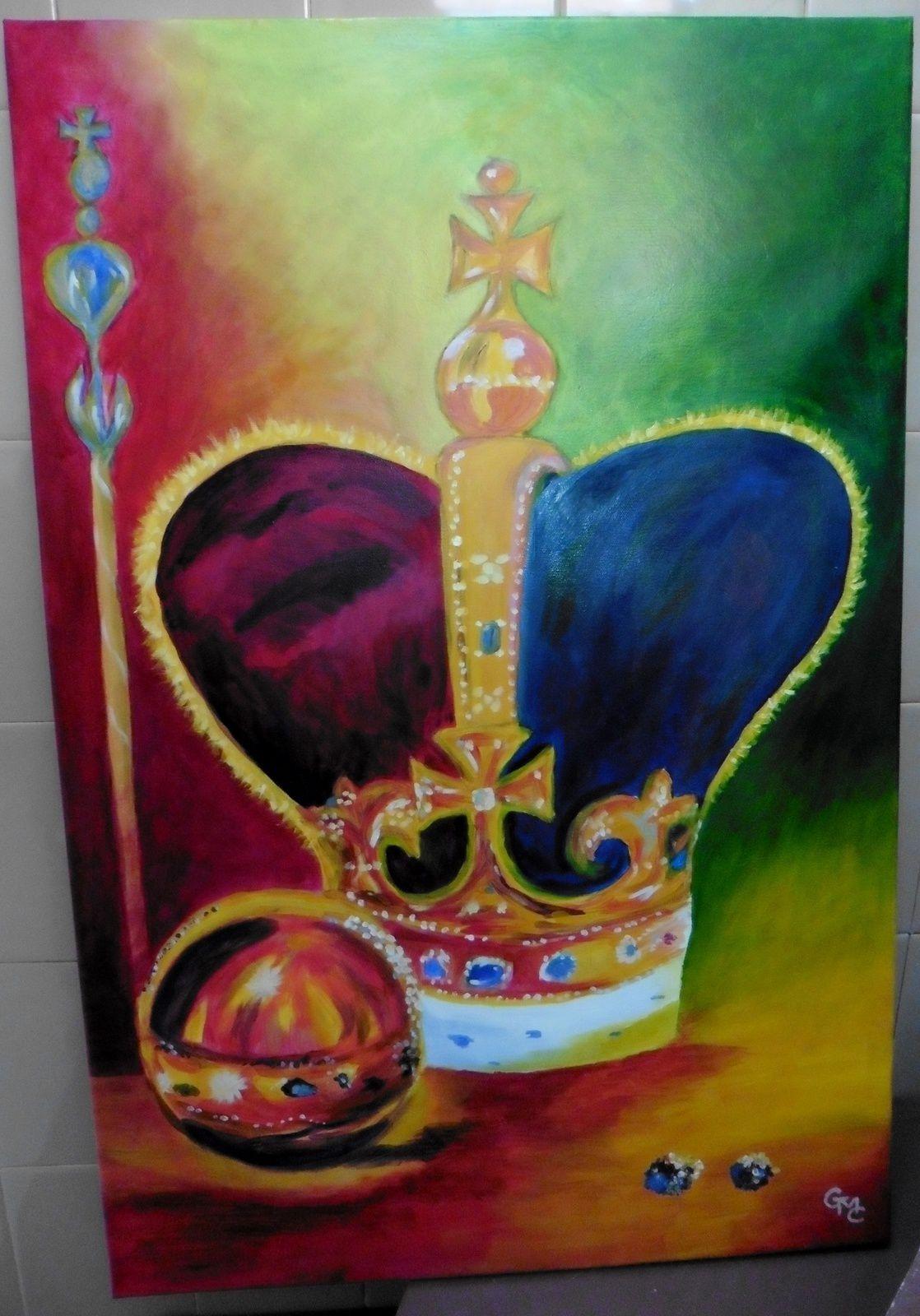 peinture réalisée apres la visite de Londre avec l'atelier de Doudeauville .J'ai choisi :les joyaux de la couronne.