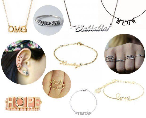 Message sur bijoux !