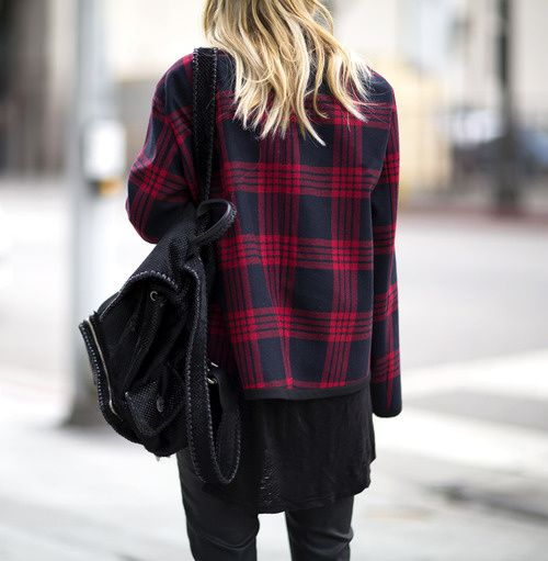 Black and plaid