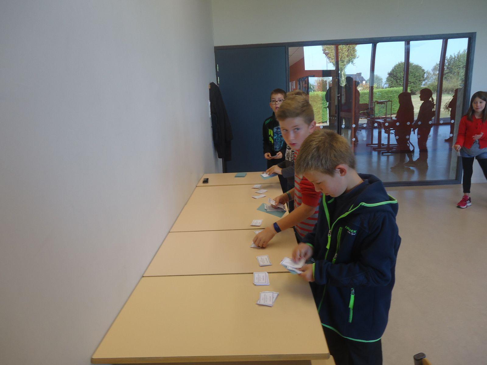 Elections pour le Conseil Municipal des Enfants.
