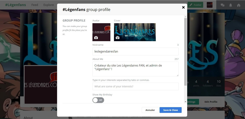 Modifier les informations de votre profil