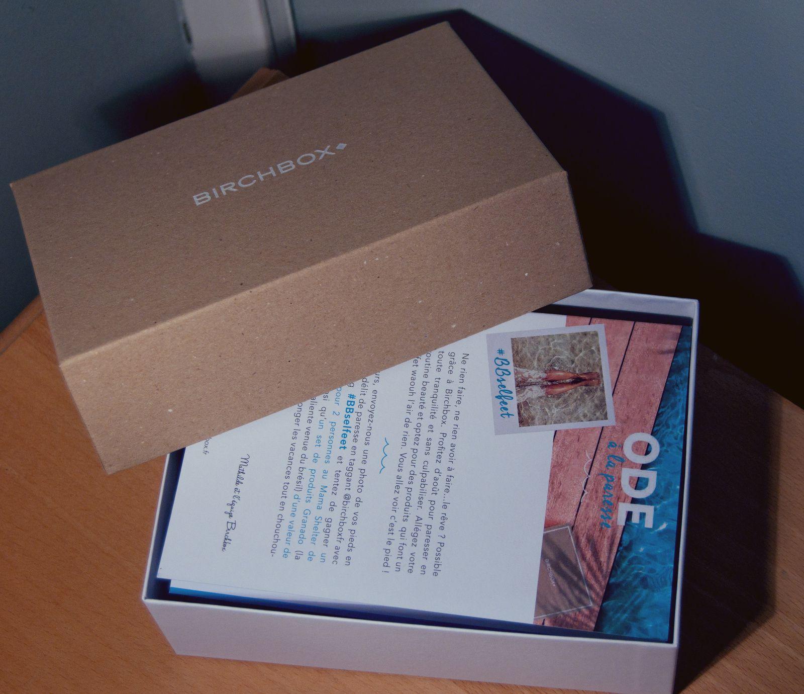 Birchbox Ôde à la Paresse - Août 2014