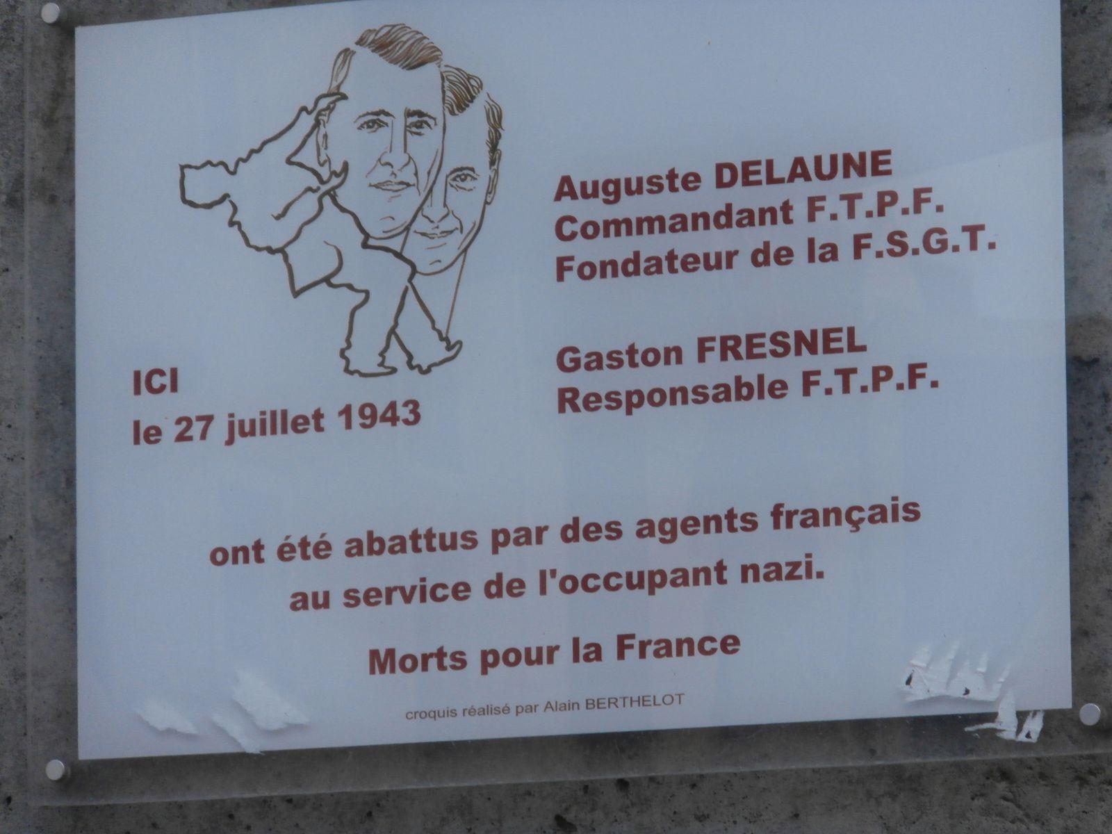 Rendez-vous l'année prochaine pour saluer la mémoire d'Auguste DELAUNE.