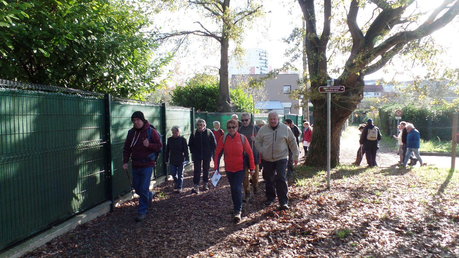 Après la traversée du parc de la GIRONDE, on rejoint les premiers chemins creux de COULAINES.