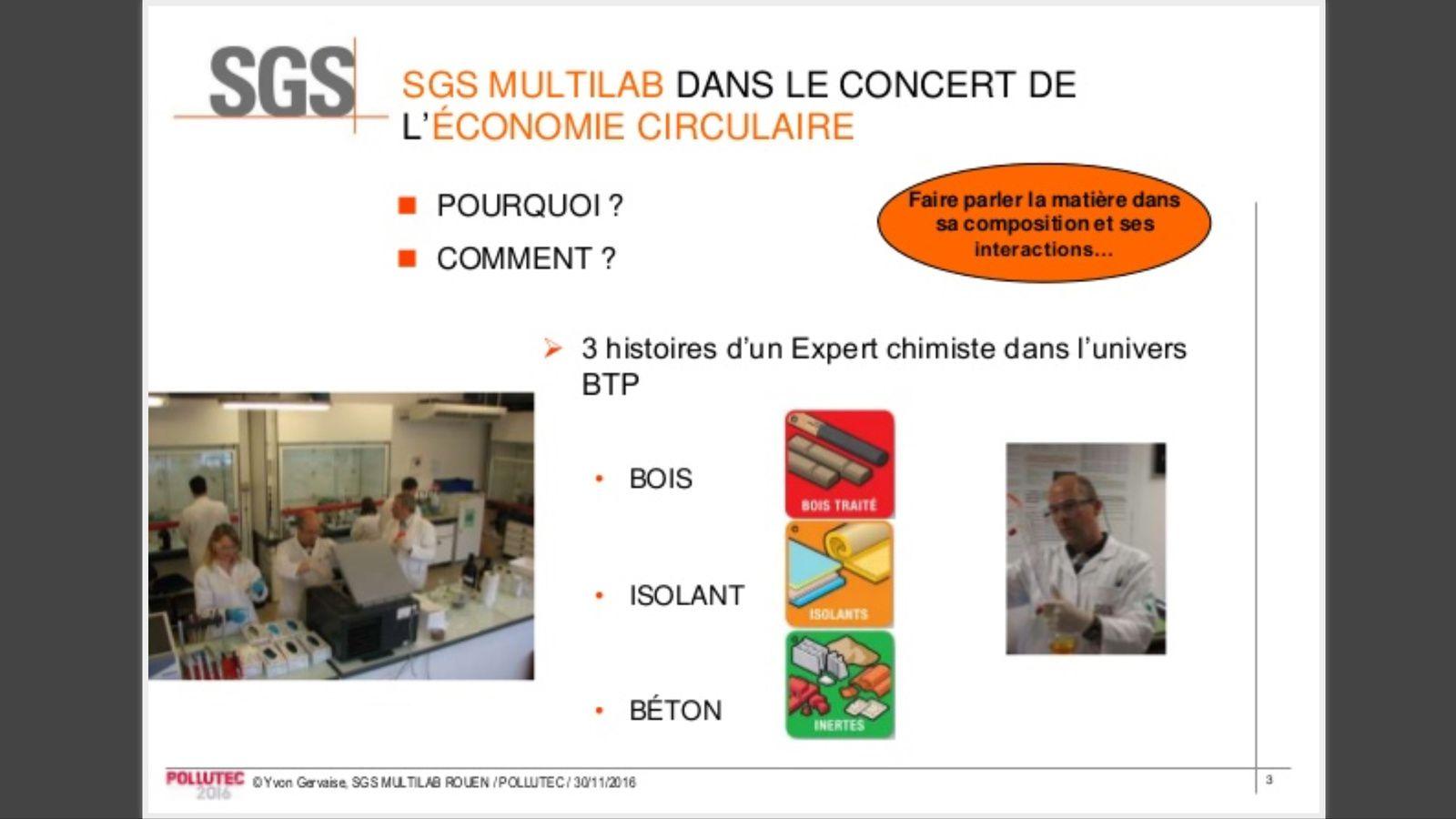 Conference de Yvon Gervaise à POLLUTEC 2016 faite à Lyon Le 30/11