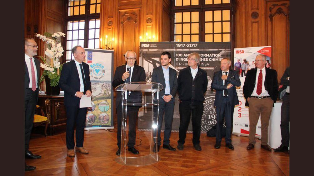 Celebrations 100 ans formation Ingénieurs Chimistes ICR-INSCIR-INSA Rouen (1917-2017)