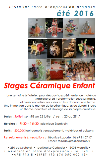 STAGE CERAMIQUE 2016
