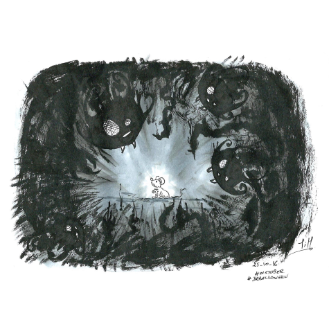 Jour 17 : Creepy - Black cat