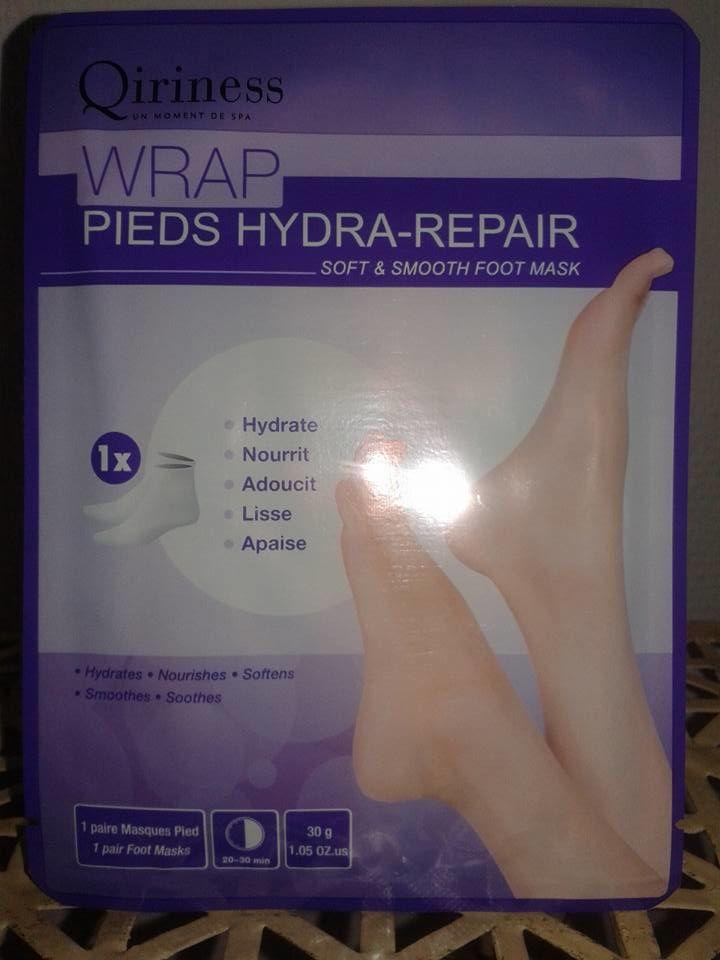 parce que nos pieds méritent toute notre attention, la solution avec ce masque hydra repair de qiriness, il hydrate,nourrit, adoucit.....un indispensable .....